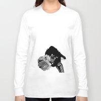 alpaca Long Sleeve T-shirts featuring Alpaca by caseysplace
