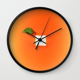 Orange out of the box Wall Clock