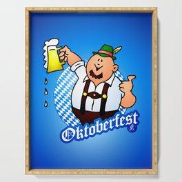 Oktoberfest - man in lederhosen Serving Tray