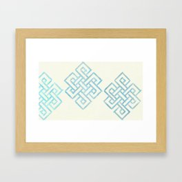 Endless and Eternal (cream) Framed Art Print