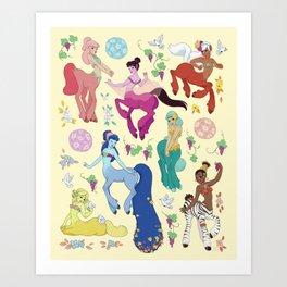 Centaurettes Art Print
