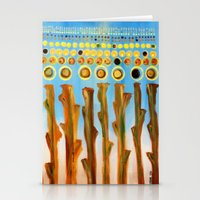 indiana Stationery Cards featuring :: Indiana Corn :: by :: GaleStorm Artworks ::