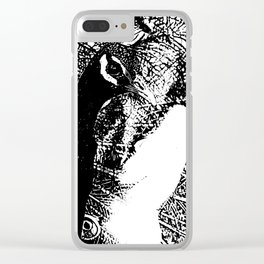 Nude Peacock Woman Clear iPhone Case