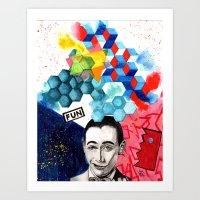 pee wee Art Prints featuring pee wee herman by deanna kelii