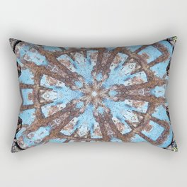 Sky & Earth Natural Mandala Abstract Rectangular Pillow