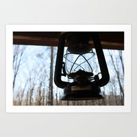 lantern Art Prints featuring LANTERN by MILE HIGH CREATIVE
