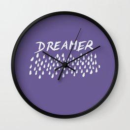 Ultra Violet DREAMER #1 #typo #drawing #decor #art #society6 Wall Clock