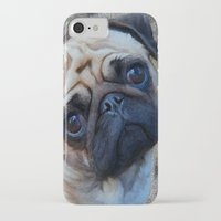 pug iPhone & iPod Cases featuring Pug by Crayle Vanest