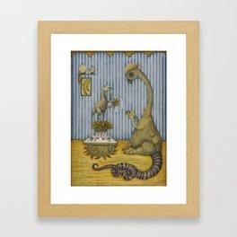 Dining with Herbivores Framed Art Print