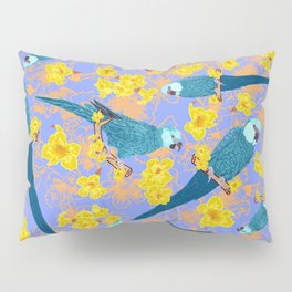 Spix Macaw Flower Power Pillow Sham