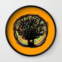 Life colors tree Wall Clock