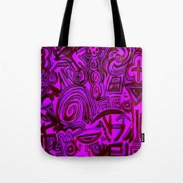 Magenta symbols Tote Bag