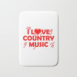 I Love Country Music Bath Mat