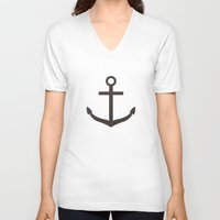 nautical V-neck T-shirts featuring Nautical Exploration by Leah M. Gunther Photography & Design