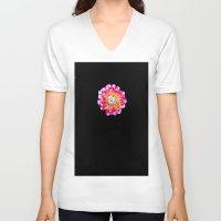dahlia V-neck T-shirts featuring Dahlia by Trevor Jolley