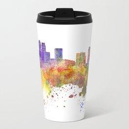 Newark skyline in watercolor background Travel Mug