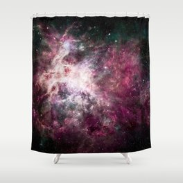 Nebula Formation in Outer Space Shower Curtain