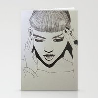 grimes Stationery Cards featuring Grimes by NikkiMaths