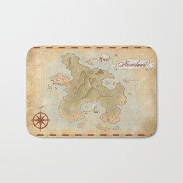 Map of Neverland Bath Mat