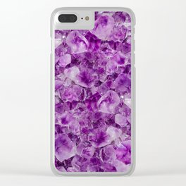 Purple Amethyst Clear iPhone Case