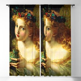 """Sophie Gengembre Anderson """"Take the Fair Face of Woman"""" Blackout Curtain"""