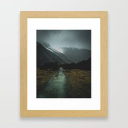 Hiking Around the Mountains & Valleys of New Zealand Framed Art Print