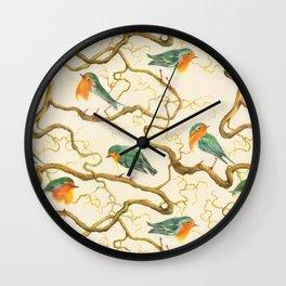 Robin in the Corkscrew Wall Clock