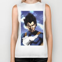 vegeta Biker Tanks featuring Prince Vegeta by Shibuz4