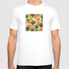 vivid floral Mens Fitted Tee MEDIUM White