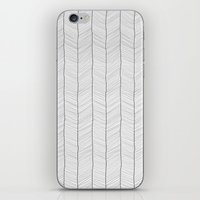 herringbone iPhone & iPod Skins featuring Herringbone by EtOfficina