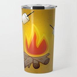 Camping - Roasting Marshmallows over Campfire Travel Mug