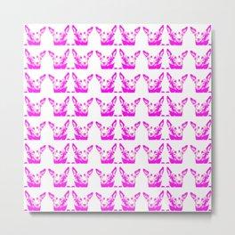 Mitzi violet and white, pattern Metal Print