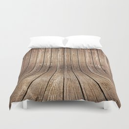 Realistic wood background Duvet Cover