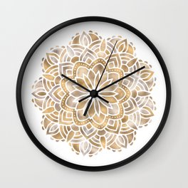 Mandala Multi Metallic in Gold Silver Bronze Copper Wall Clock