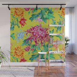 Oriental Flowers Wall Mural