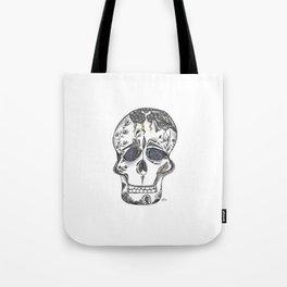 Gray Skull Tote Bag