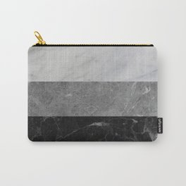 Marble - White, Grey, Black Carry-All Pouch