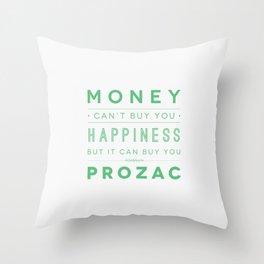 Prozac Nation Throw Pillow