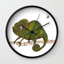 Chameleon vs fly Wall Clock