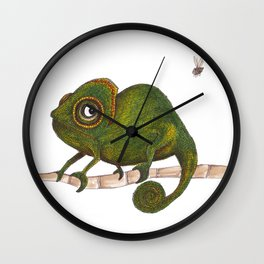 Chameleon vs fly Wall Clock