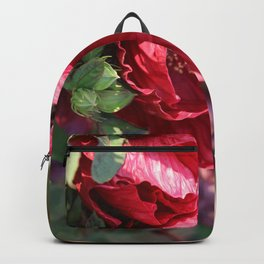 Glorious Giant Red Hibiscus Backpack