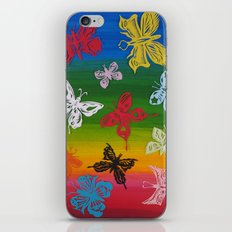 colorful Butterflies (1) iPhone & iPod Skin