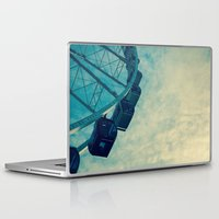 ferris wheel Laptop & iPad Skins featuring Ferris Wheel by Tracy Wong