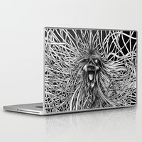 pain Laptop & iPad Skins featuring Pain by Daniel Bede-Fazekas