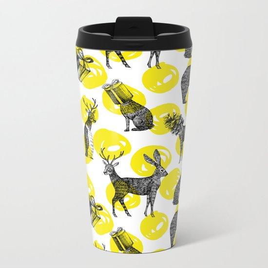half animals pattern Metal Travel Mug