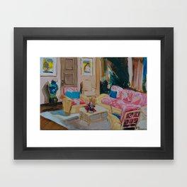 Golden Girls living room Framed Art Print