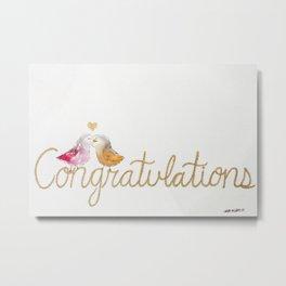 Congratulations, Lovebirds Metal Print