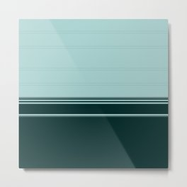 Bold Teal Green Stripes Metal Print