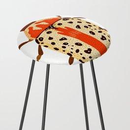 White and Orange Beetle Counter Stool