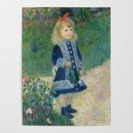 Auguste Renoir A Girl with a Watering Can 1876 Painting Poster